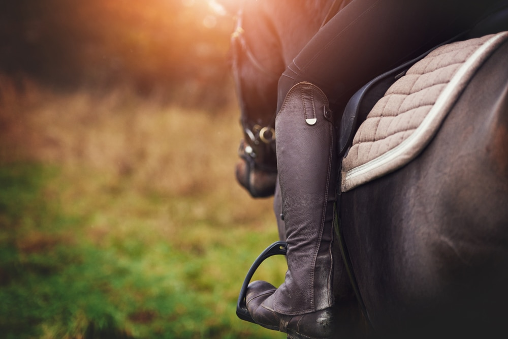 Eventing boots for riders